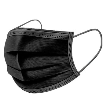 Маска защитная трехслойная черная